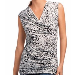 CAbi Printed Lana Top Style 734 Size XS NWT